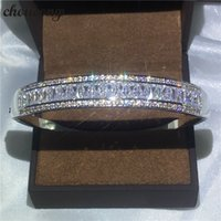 choucong bracelet channel setting Diamond S925 Sterling Silv...