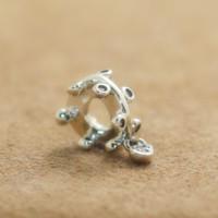 Стерлингового серебра 925 люстра капли мотаться очарование шарик с CZ подходит Европейский Pandora стиль ювелирные изделия браслеты ожерелье