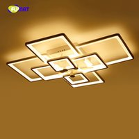 Modern LED Creative square Ceiling Light For Living Room fas...