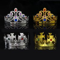 Party Cosplay Crown King Queen Princess royal diamond gem cr...