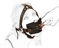 Gimp fetiche Bondage Couro Focinho Bola Mordaça, Cabeça Arnês Escravo Sub, Harness Meia Cinta de Cabeça, Boca Adulto Capa Y18101501