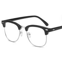 빈티지 완료 근시 안경 여성 / 남성 독서 안경 근시 반 프레임 HD 렌즈 처방전 Len 아이 안경