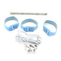 2in1 전기 충격 페니스 플러그 요도 벽 말 눈 의료 테마 장난감 홈 치료 장비 섹스 제품