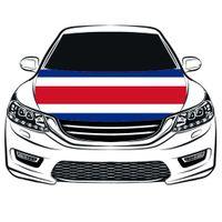 كأس العالم لكرة القدم جمهورية كوستاريكا العلم غطاء محرك السيارة غطاء 3.3X5FT 100 ٪ البوليستر ، علم المحرك ، الأقمشة المرنة يمكن غسلها