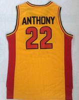 vente en gros Oak Hill High School 22 Anthony Top jaune maillot Maillots Maillots TOPS, Trainers Basketball Jersey TOPS, Vêtements de basket-ball
