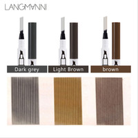 LANGLANNI Liquid sourcil Penil Liquid sourcil Enhancer 3 couleurs quatre tête Enhancer sourcil Imperméable Livraison gratuite