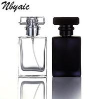 30 ml de vidrio transparente botella vacía botella de perfume atomizador spray puede llenarse botella aerosol caja de viaje tamaño portátil regalo Envío Gratis