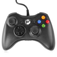 Atacado preto / branco usb wired joypad controlador de gamepad para microsoft xbox slim 360 pc windows 7