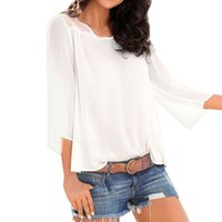 Casual Blouse Women Work Elegant White Shirt Autumn Fashion ...