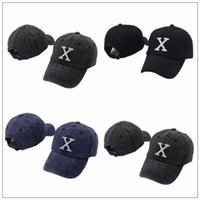 3 Colors X Logo Hat X Logo Letter Embroidered Baseball Cap A...