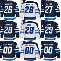 Cheap Mens Womens Kids Winnipeg Jets 26 Blake Wheeler 27 Nikolaj Ehlers 28  Patrice Cormier 29 Patrik Laine Stitched Ice Hockey Jerseys 387457ae2