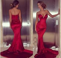Сексуальное платье большого размера, красное, русалка, вечерние платья, развертки со спиной, длинные выпускные платья, атласные платья знаменитостей