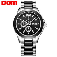 Dom fully- automatic mechanical watch stainless steel mens wa...