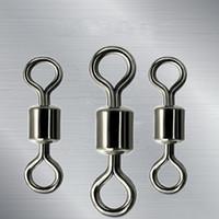 Amerikanischen Stil 8 Wort Ring Kugellagerwirbel Mit Split Ringe Karpfen Stecker Angeln Waren Starke Zugkraft 0 1hm W