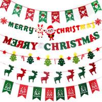 أعلام عيد الميلاد شنقا راية سلسلة سانتا كلوز الأيائل جورب ثلج إمدادات حزب زخرفة المنزل زخرفة عيد الميلاد هدية لطيف