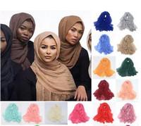 المرأة ماكسي حجاب شالات كبير جدا رئيس الإسلامية الأغطية الناعمة طويل مسلم المتوترة كريب قسط القطن سهل الحجاب وشاح 20 جهاز كمبيوتر شخصى