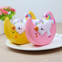 Squishy Toys 12CM PU Jumbo Cute Kawaii Soft Unicorn Moon Squ...