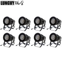 Free Shipping 8pcs lot Waterproof LED Can Par COB 200W RGBW 4in1 Outdoor Stage Light Audience Studio