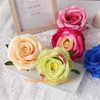 9 см искусственный двойной цвета шелковые розы цветок головы украшения аксессуары для DIY цветок букет свадебные арки украшения стены YYF33