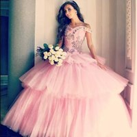 Popular Blush Ball Gown Quinceanera Dresses 2018 Off Shoulde...