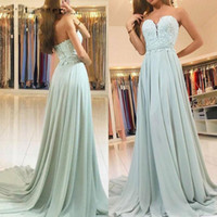 Sweetheart Chiffon Lace Evening Dresses Party Elegant for Wo...