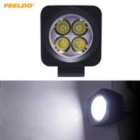 FEELDO Araba 10 W LED İş Işık Sel Nokta Çalışma Lambası için Motosiklet Sürüş Offroad Tekne Kamyon Işın DC12V-24V # 1053