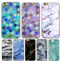 Granite Scrub Marble Stone Printed Creative Case Soft TPU Re...