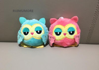 2018 New Sweet 2Colors - OWL 9CM key chain toys , Plush Stuf...