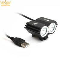 Solar Storm 5000LM X2 CREE XM-L T6 USB impermeabile faro bicicletta LED