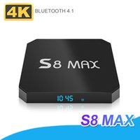 S8 MAX 4GB 32GB Android 8.1 Smart TV Box 2.4G 5.8G WIFI Bluetooth 18.0 IPTV Media Player Mejor MXQ PRO H96X MAX Con caja al por menor
