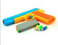 اللعب LNL M1911 كيد الدعامة مسدس زي لعبة بندقية بندقية اللعب العمل الشريحة تبادل لاطلاق النار رصاصة