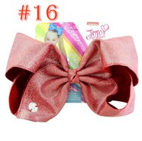 8 inch JOJO Kids Girl Bows + paper card leather laser cloth ...