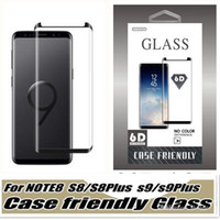 Case Friendly gehärtetes Glas für Samsung Galaxy S9 Hinweis 8 Note8 S8 Plus S7 Edge 3d gekrümmte Fall Version Telefon Screen Protector