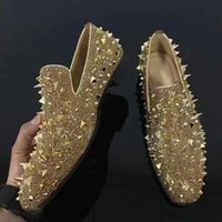 Famous Red Bottom Loafers Dandelion Strass Spikes , Fashion S...