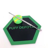Marka yeni Isı direnci yapışmaz silikon pişirme mat kiti anti kayma mat dabber aracı ile balmumu konteynerler dab özel silikon dab mat