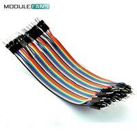 10 см 2.54 мм строка между мужчинами кабель макет перемычка провод для arduino