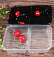 Yemek Hazırlama Konteynerleri Mikrodalga Gıda Depolama Porsiyonu Kontrol Kapakları Ile Tek Kullanımlık Kaplar Kapak ile Öğle Yemeği Kutusu Tepsisi
