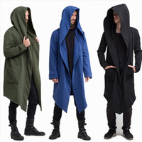 Men Hooded Jacket Black Gown Best Quality Hip Hop Mantle Hoo...