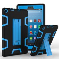 Pour Kindle Fire HD 8 2017 Tablet PC Case Silicone PC Hybrid Antichoc Kickstand Case Kindle Fire 7 Cas