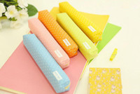 Wave point pen bag student cute pencil case office stationer...