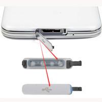 Samsung Galaxy S5 G900 G900F G900T G900V G900H VS G900A G900p Yeni USB şarj için 50 adet / lot liman rıhtım kapak durumda Plug şarj