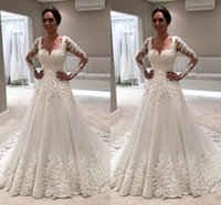 2018 Summer Gorgeous Square Neck Lace A Line Wedding Dresses...