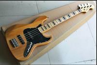 Fábrica al por mayor GYJB-5015 ASH madera color negro placa Chrome hardware 4 cuerdas Jazz Bass Guitarra Eléctrica, shippinge libre
