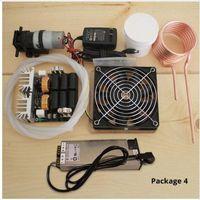 1000W ZVS chauffage par induction carte PCB chauffage par induction machine de chauffage en métal fondu + bobine Mayitr + creuset + pompe + alimentation