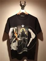2018 летний бренд футболки мужчины лето новые короткие рукава Shark Notre Dame пэчворк печатных футболка мужская одежда Tee топы