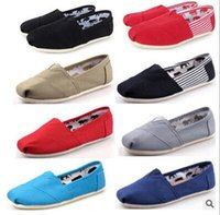 عارضة أحذية النساء / الرجال الكلاسيكيات السيدة المتسكعون قماش الانزلاق على الشقق أحذية أحذية كسول حجم W5-10 M11-15