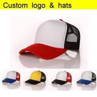 Fabrika Toptan Ücretsiz Baskı LOGO / Desen Aduit Trucker Caps Patchwork Şeker Renk Yaz Güneş Şapka Beyzbol şapka Yaz Spor Örgü Kap
