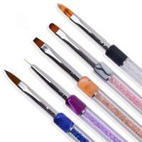 Nagel APen Strass Kristall Acryl Tipps Gelpoliermittel Dekoration Malerei Zeichnung Linie Fin Flache Gradienten Werkzeuge Maniküre