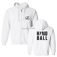 Nova Moda Homens Moletom Com Capuz de Lã Camisola de Algodão Play Handball Impressão Hoodies Tops Aptidão Casaco Streetwear