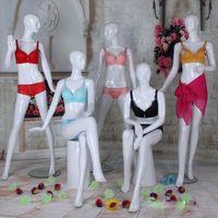 Nueva maniquí femenino de moda mejor calidad Nueva llegada fibra de vidrio blanco brillante maniquí Venta caliente